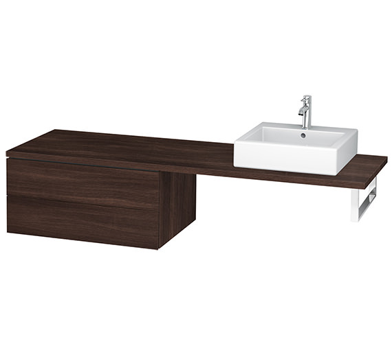 Alternate image of Duravit L-Cube 820mm Double Drawer Floor Standing Vanity Unit For Console