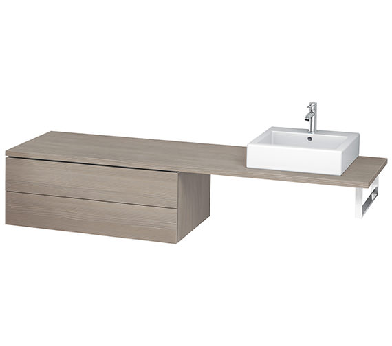 Additional image of Duravit L-Cube 1020mm Double Drawer Floor Standing Vanity Unit For Console