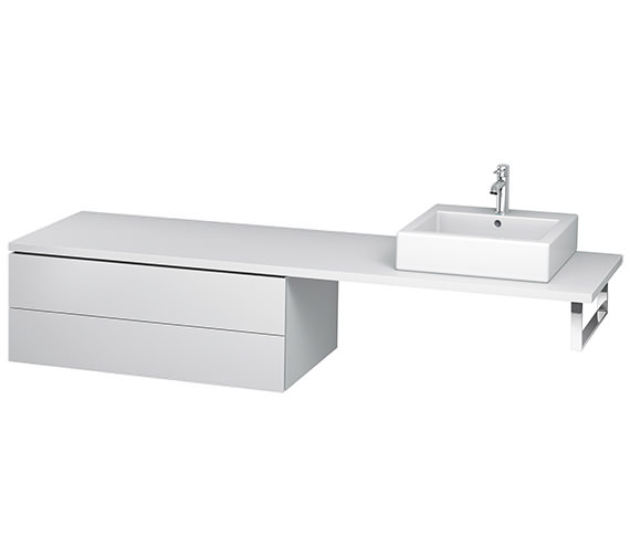 Duravit L-Cube 1020mm Double Drawer Floor Standing Vanity Unit For Console