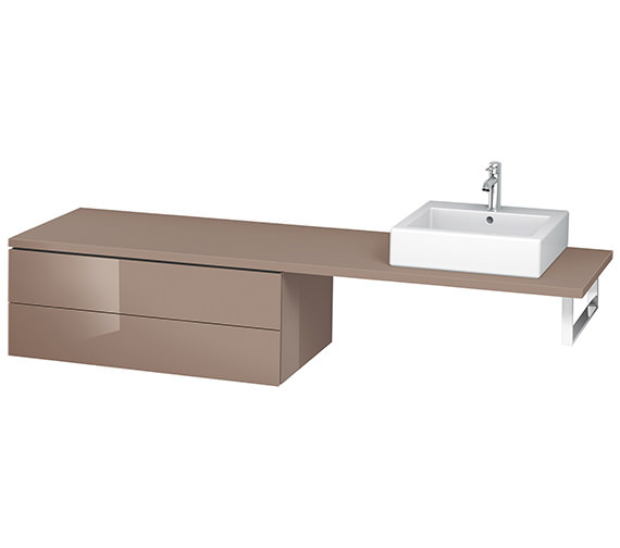 Alternate image of Duravit L-Cube 1020mm Double Drawer Floor Standing Vanity Unit For Console