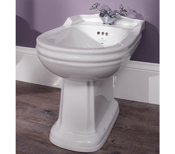 Silverdale Balasani White Freestanding Back To Wall Bidet
