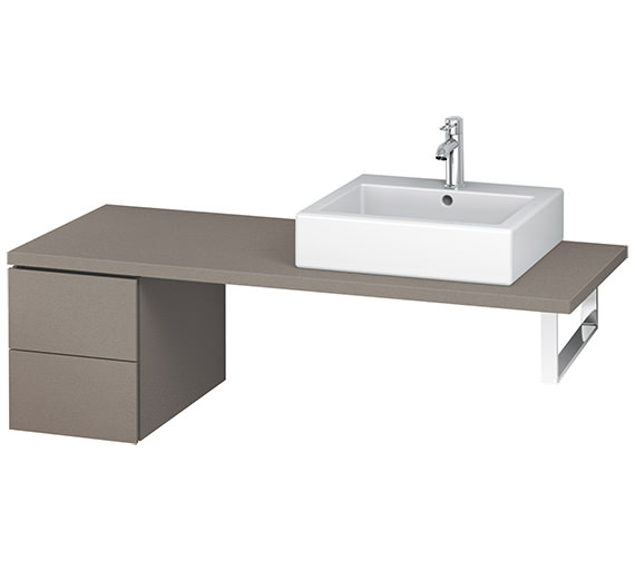 Duravit L-Cube 320mm White Matt Double Drawer Floor Standing Vanity Unit For Console