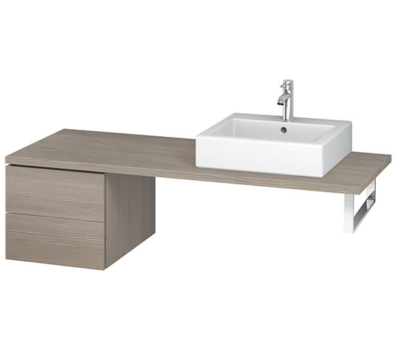 Additional image of Duravit L-Cube 420mm Double Drawer Floor Standing Vanity Unit For Console