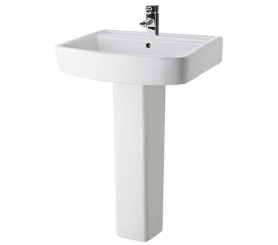Lauren Bliss 600mm Basin And Pedestal With 1 Tap Hole