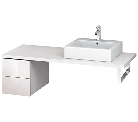 Alternate image of Duravit L-Cube 320mm White Matt Double Drawer Floor Standing Vanity Unit For Console