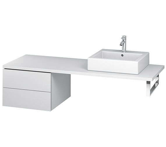 Duravit L-Cube 520mm Double Drawer Floor Standing Vanity Unit For Console