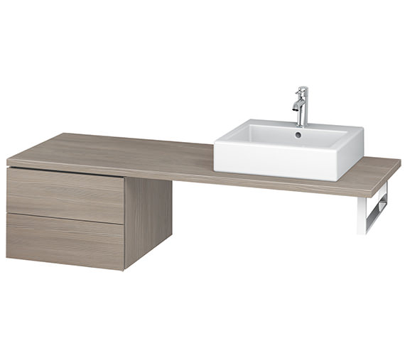 Additional image of Duravit L-Cube 520mm Double Drawer Floor Standing Vanity Unit For Console
