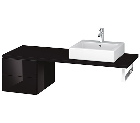 Alternate image of Duravit L-Cube 420mm Double Drawer Floor Standing Vanity Unit For Console