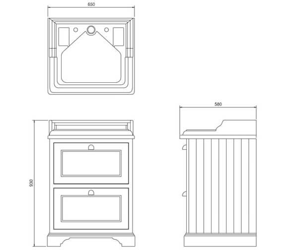 Technical drawing QS-V93095 / FF9W