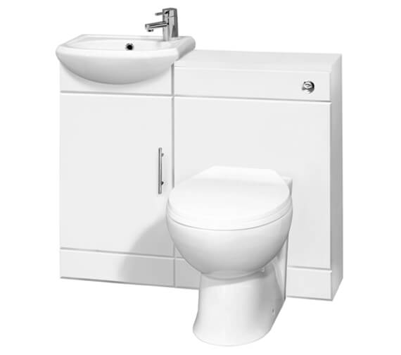 Nuie Sienna Cloakroom Gloss White Furniture Pack