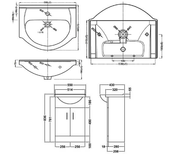 Technical drawing QS-V45059 / VTY550