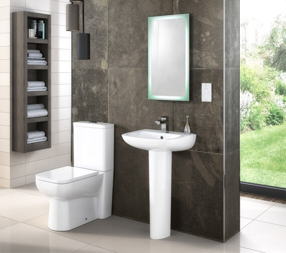 Premier Pick And Mix 585mm Compact Semi Flush To Wall Pan With Cistern And Seat
