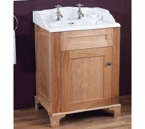Silverdale Victorian 635mm Light Oak Cabinet And Basin