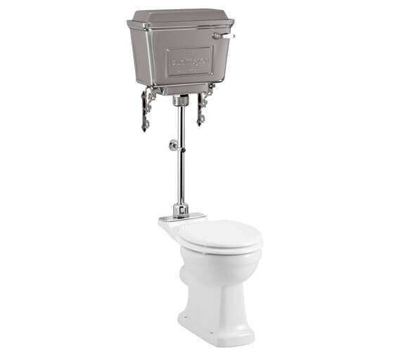 Burlington Standard Pan With Aluminium Cistern And Medium-Level Flush Pipe Kit