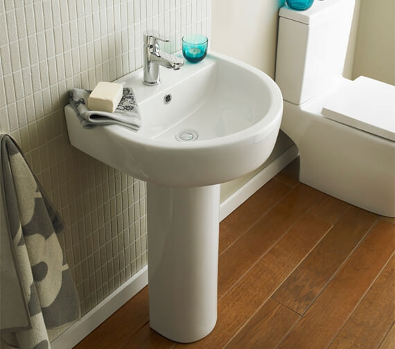 Nuie Provost 1 Tap Hole Wall Mounted Basin And Basin