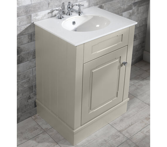 Alternate image of Silverdale Victorian 635mm Cabinet And 3TH Undermount Basin Painted Grey
