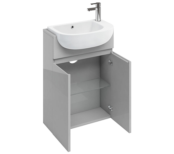 Additional image of Britton Compact 600mm White Floor Standing Unit With Worktop
