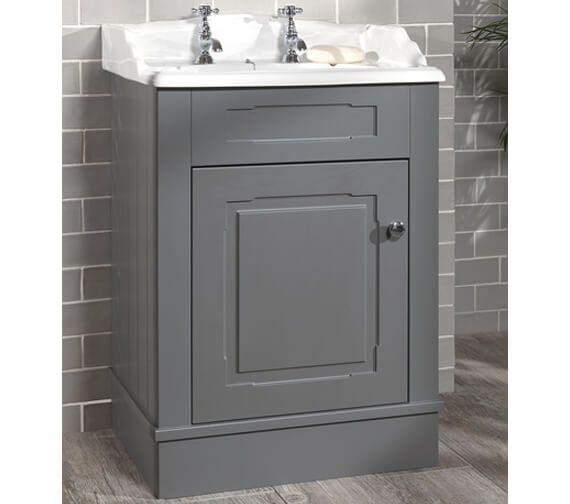 Silverdale Victorian 635mm Painted Cabinet And 2 Tap Holes Basin