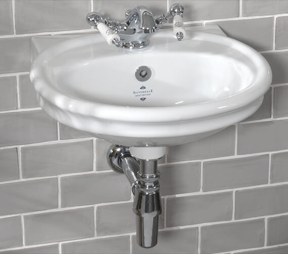 Silverdale Loxley 450mm Cloakroom Basin With 1 Tap Hole White