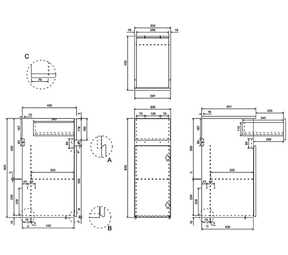 Technical drawing QS-V17522 / AD41W