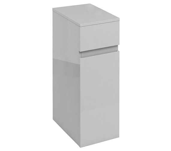 Additional image of Britton D45 300mm White Single Door Unit With Drawer