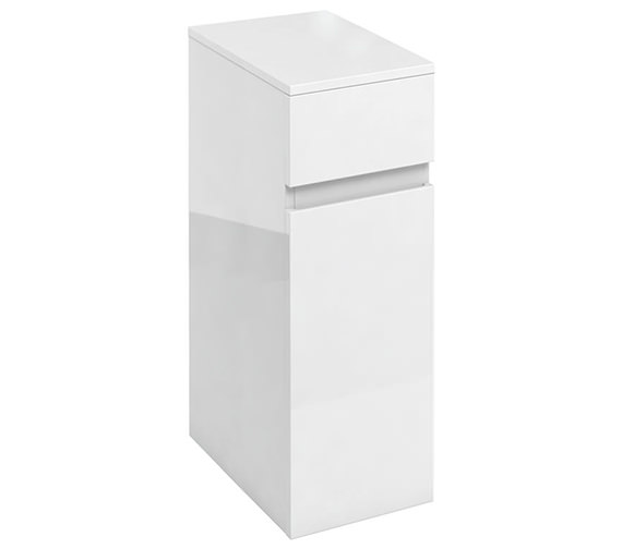 Britton D45 300mm White Single Door Unit With Drawer