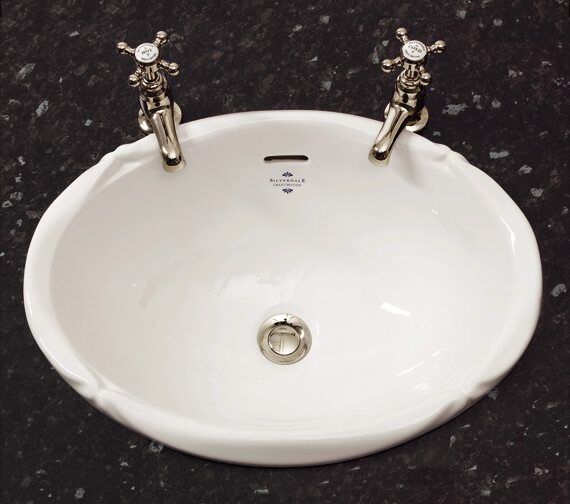 Silverdale Victorian Inset Vanity White Basin