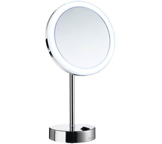 Smedbo Outline Shaving And Make Up Chrome Mirror With Light