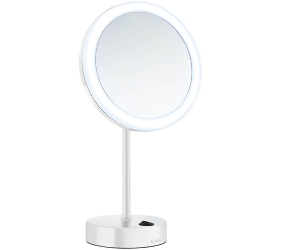 Additional image of Smedbo Outline Shaving And Make Up Chrome Mirror With Light