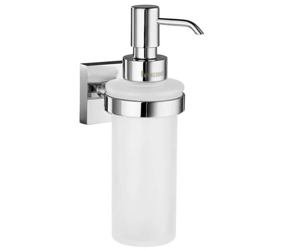 Smedbo House Polished Chrome Holder With Frosted Glass Soap Dispenser