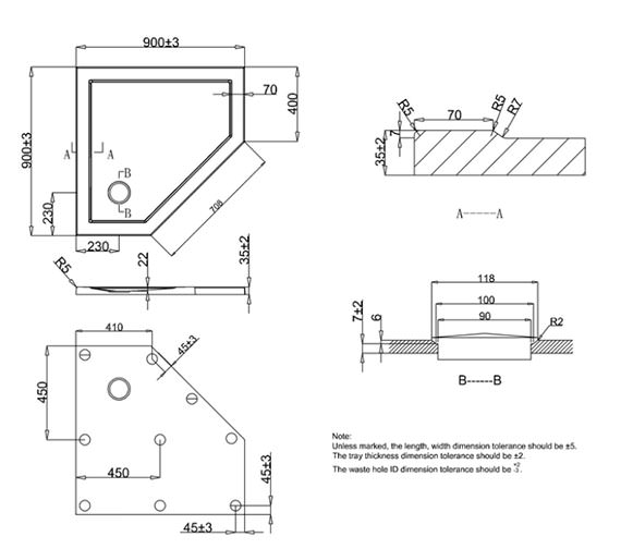 Technical drawing QS-V22732 / ST000P900