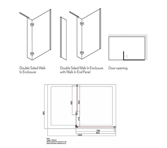Technical drawing QS-V39249 / DWDSC1400+