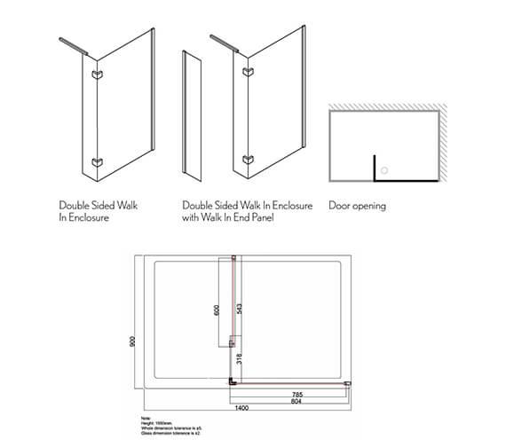 Technical drawing QS-V39249 / DWDSC1400+