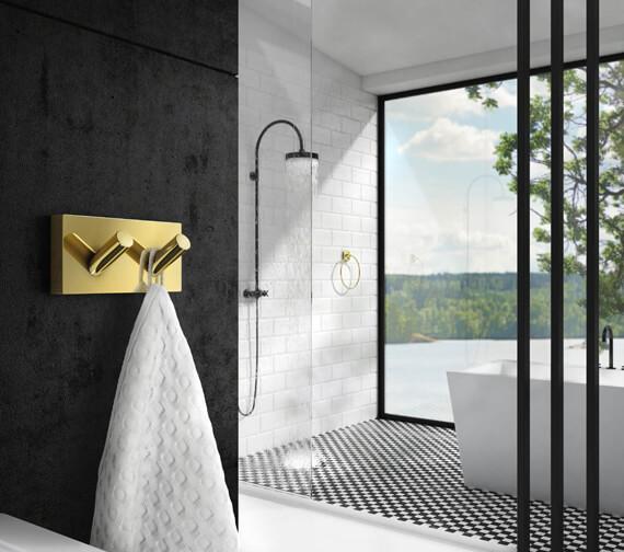 Smedbo House Double Towel Hook