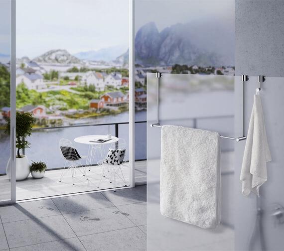 Smedbo Sideline Towel Rail For Glass Shower Panel