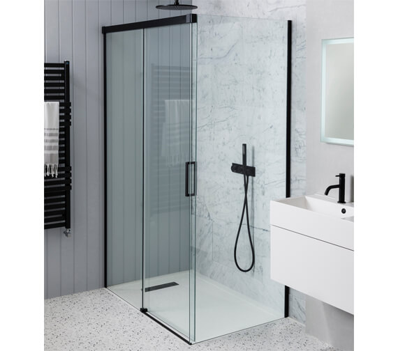 Crosswater Design+ Soft Close Single Slider Shower Door