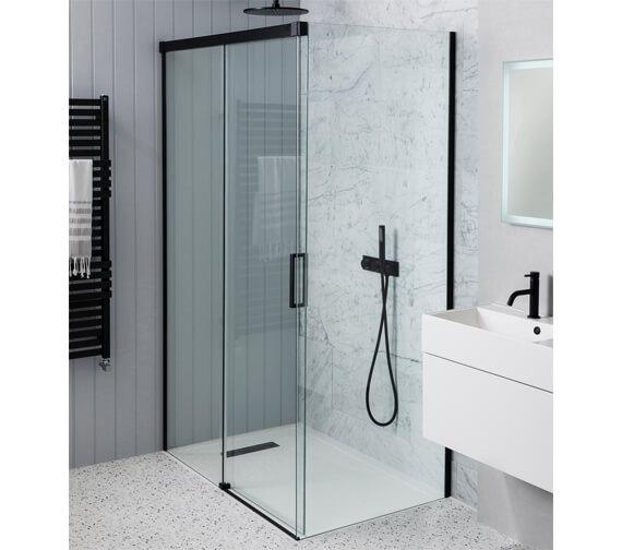 Simpsons MPRO 1200mm Wide Single Slider Shower Door 1400mm