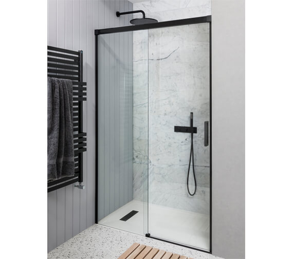 Alternate image of Crosswater Design+ Soft Close Single Slider Shower Door
