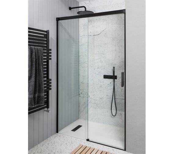 Alternate image of Simpsons MPRO 1200mm Wide Single Slider Shower Door 1400mm