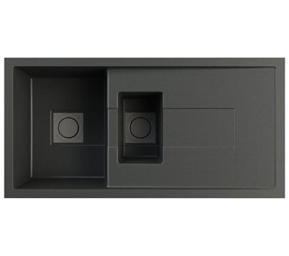 Astracast Sigma 1.5 Bowl 1000 x 500mm Volcano Black ROK Metallic Kitchen Sink And Waste