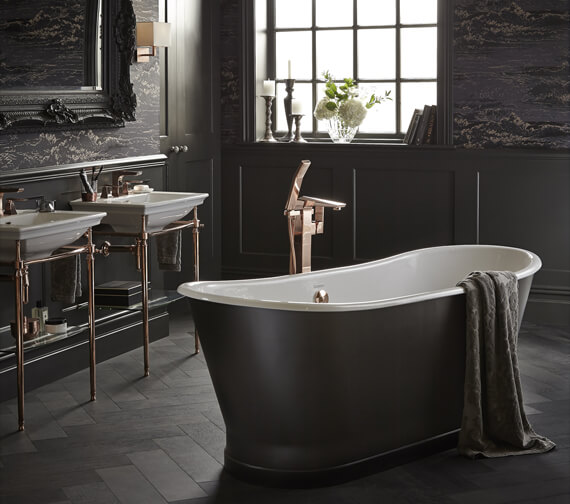 Heritage Madeira Freestanding 1700 x 695mm Cast Iron Double Ended Bath