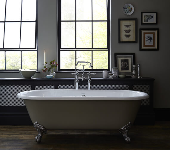 Additional image of Heritage Grand Buckingham Cast Iron Roll Top Bath With Feet