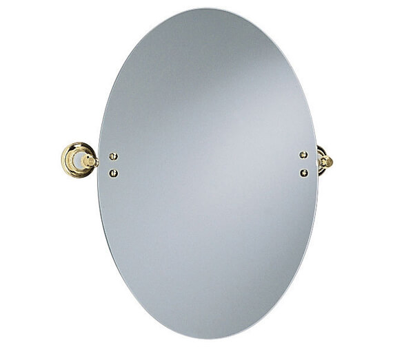 Heritage Clifton Oval Swivel Mirror Vintage Gold - ACA17