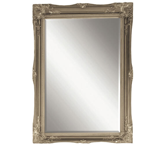 Heritage Balham 660 x 910mm  Gilt Silver Wooden Framed Mirror