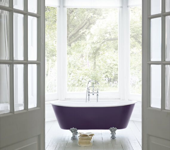 Heritage Porto Santo Bateau Cast Iron Roll Top Bath With Feet