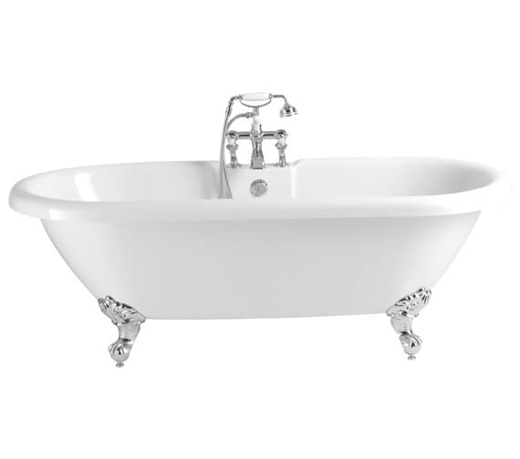 Heritage Oban 1760 x 790mm Double Ended Roll Top Bath With Feet