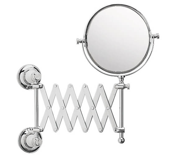 Heritage Clifton Extendable Mirror Chrome