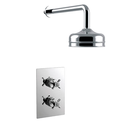 Heritage Dawlish Chrome Recessed Thermostatic Valve With Fixed Head