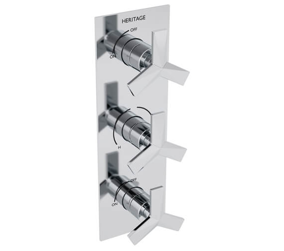 Heritage Hemsby Recessed Thermostatic Shower Valve With Twin Stopcocks