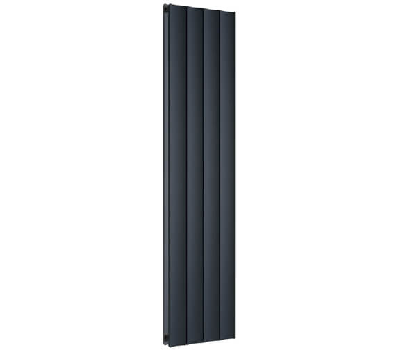 Reina Luca 280 x 1800mm Anthracite Double Panel Vertical Aluminium Radiator - More Width Sizes Available
